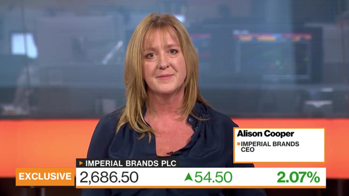 EI : Bloomberg Europe talks with Alison Cooper, CEO of Imperial Brands